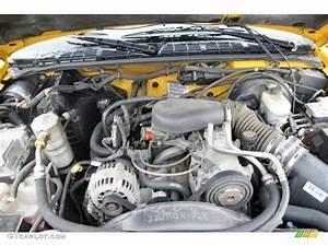 2003 Chevrolet S10 Zr2 Extended Cab 4x4 4 3 Liter Ohv 12v Vortec V6 Engine Photo  49605580