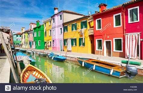 italy colorful houses colourful houses in of burano near venice italy