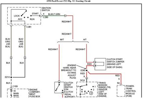 Ford Zx2 Wiring Diagram by 1998 Ford Intermittent Starting 1998 Zx2