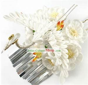 Traditional Japanese Geisha Crane Hair Accessories Set
