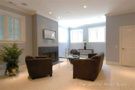 Blue Gray Paint Color for Basement Walls