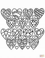 Coloring Hearts Pages Pattern Adults Heart Printable Rocks Sheets Valentine Shape Ausmalbilder Supercoloring Drawing Mandala Easy Herz Blank Flower Puzzle sketch template