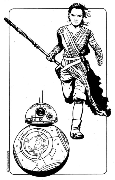 star wars coloring pages chewbacca kylo ren finn rey