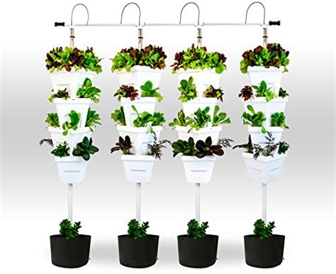 vertical hydroponic diy 4 tower with ground containers