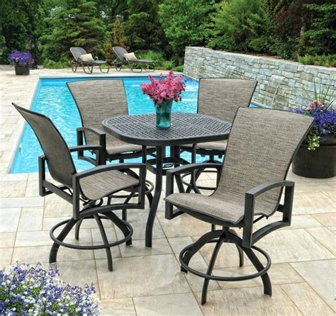 tall outdoor bistro table set bar height patio chairs bar height patio table set bar