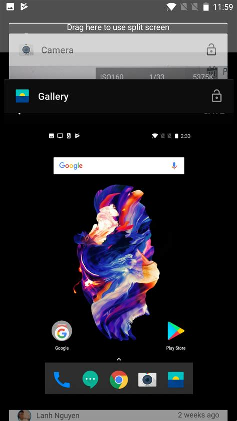 split screen app for android how to use multi window mode on the oneplus 5 android