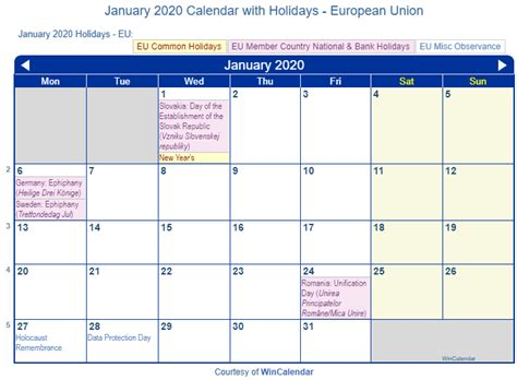 print friendly january eu calendar printing