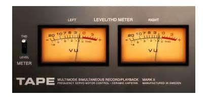 Plugin Vu Softube Tape Level