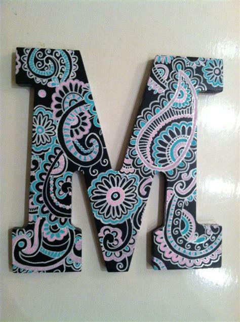 handpainted black wooden letter  notsoplainjaynes  etsy  painting wooden letters