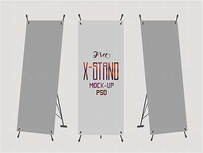 Mockup Banner Stand Psd Standing