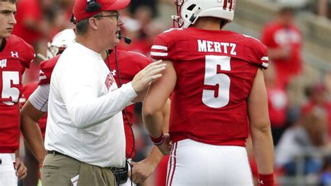 coans injury  opportunity  wisconsin qb mertz