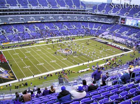 mt bank stadium section baltimore ravens