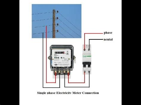 electricity meter meter wiring connection ब जल म टर क कन क सन meter connection