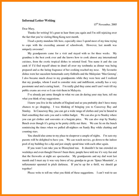 informal letter format how to write an informal letter how to write letter 67770