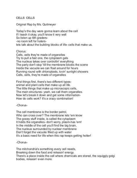 cells songs  lyrics