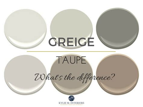 the difference between greige and taupe paint colours