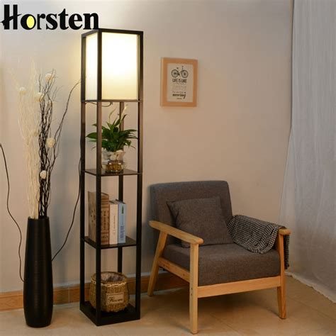 wooden floor lamp modern minimalist living room light
