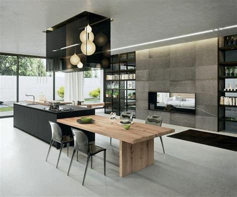 cuisine avec ilot central et table la cuisine équipée avec îlot central 66 idées en photos
