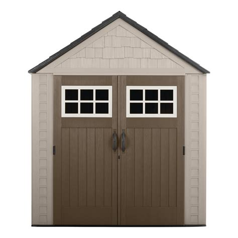 shed rubbermaid rubbermaid big max 7 ft 1 in x 7 ft 2 in resin storage