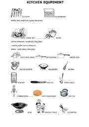Kitchen Equipment Worksheet Answers by Worksheets Kitchen Equipment