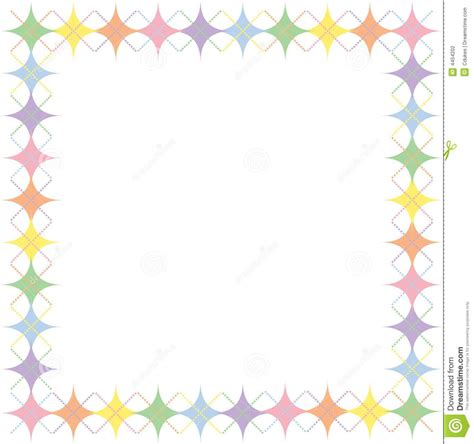 scrapbook happy birthday photography pastel rainbow argyle border stock illustration