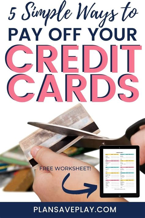 Is it easy to get a prepaid debit card? 5 Simple Ways to Pay Off Credit Card Debt | Paying off credit cards, How to get money, Debt payoff
