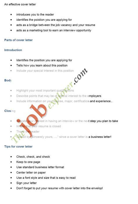 job application cover letter ideas