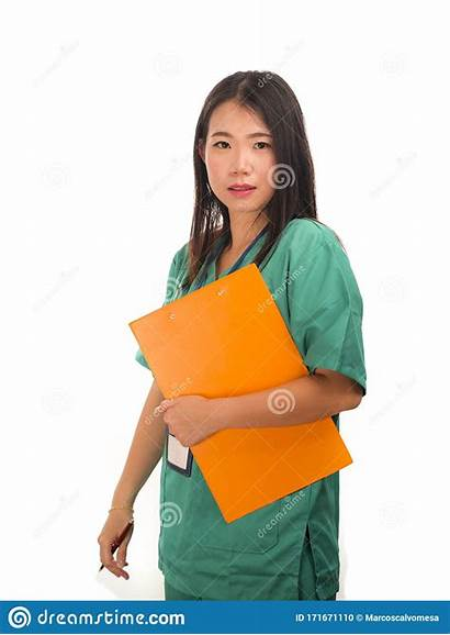 Nurse Chinese Medical Medicine Hospital Asian Young