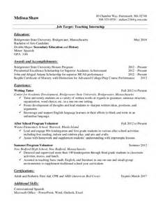 history major resume resume sles for college students and recent grads