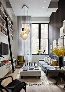 20, stylish, , u0026, functional, solutions, for, decorating, narrow, living, room