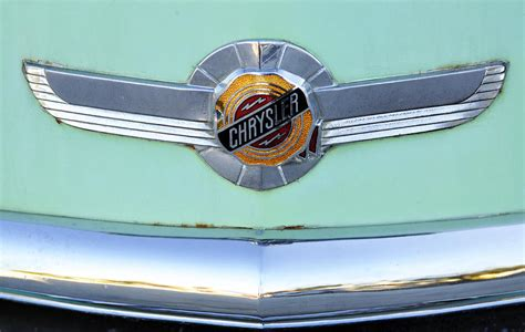 Vintage American Green Chrysler Car Hood Emblem Photograph