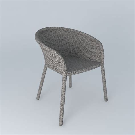 janus et cie strada arm dining chair 3d model max obj