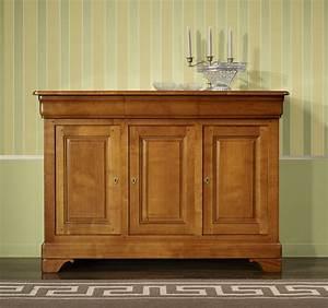petit buffet 3 portes charlotte en merisier massif de With petit meuble merisier louis philippe