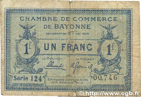 chambre de commerce bayonne 1 franc régionalisme et divers bayonne 1920 jp 021