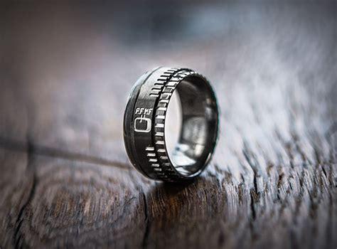 lens inspired wedding ring designed  love struck