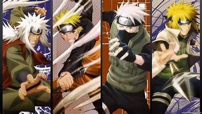 Naruto Wallpapers Characters Jiraiya Kakashi Minato Sensei