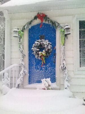 decoracion de puertas por navidad paperblog