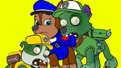 coloring pages paw patrol transforms  zombie zombie