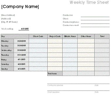 weekly timesheet template excel timesheet template excel doliquid