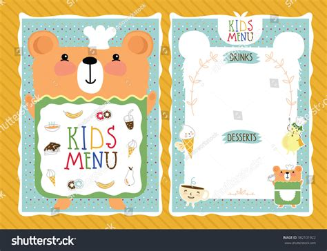Baby Kids Template by Blank Kids Menu Template Www Imgkid The Image Kid