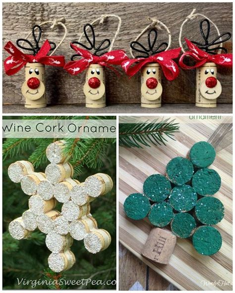 wine cork christmas craft ideas crafty morning diy
