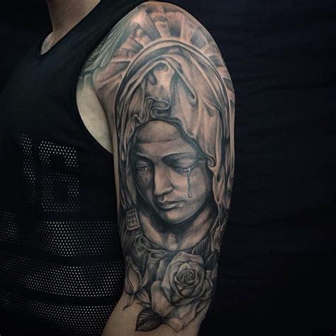 17+ Saint Mary Tattoos On Half Sleeve