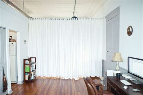 curtains as room divider maybe use a tension rod to