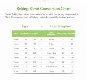 Calories Chart Truvia Baking Blend Conversion Chart For Sugar