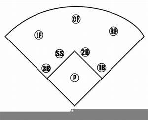 Softball Field Diagram Clipart