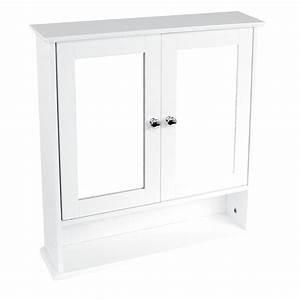 bathroom wall cabinet double mirror door wooden white With discount bathroom wall cabinets