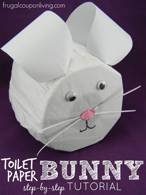 step  step toilet paper bunny tutorial easter craft