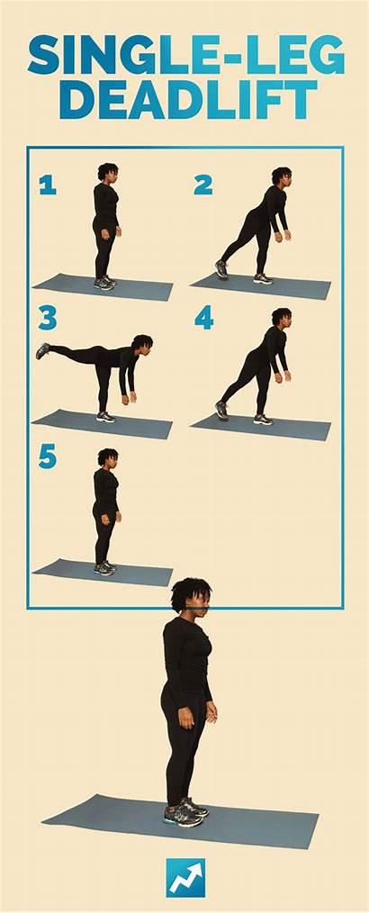 Shape Exercises Leg Exercise Single Deadlift Workouts