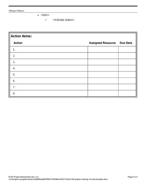 meeting notes template with items prodpiratebay