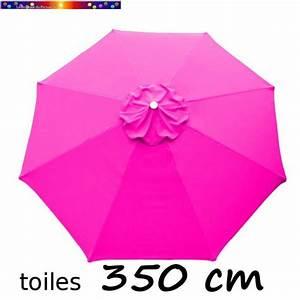Toile Pour Parasol Déporté : toile de remplacement pour parasol diam tre 350 cm couleur rose fushia ~ Teatrodelosmanantiales.com Idées de Décoration